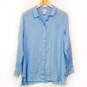 Soft Surroundings Soft Blue Linen Tunic